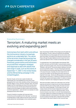 Terrorism: A maturing market meets an evolving and expanding peril