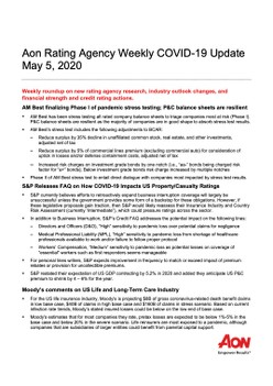 Aon Rating Agency Weekly COVID-19 Update May 5, 2020