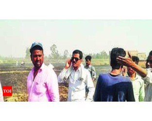 Fire destroys 400 acres of standing wheat crop in Pilibhit - Times of India