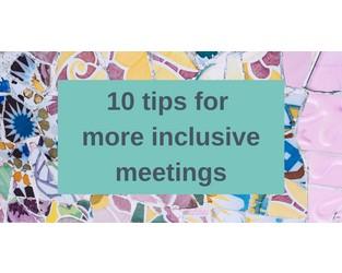 Running more inclusive meetings