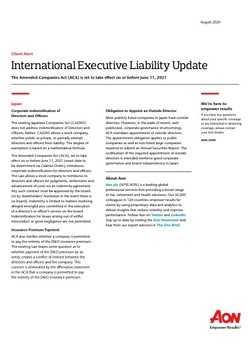 International Executive Liability Update