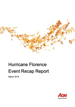 Hurricane Florence Event Recap Report - March 2019