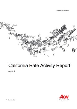 California Rate Activity Report