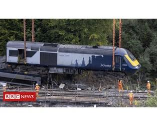 Stonehaven derailment: Report says climate change impact on railways 'accelerating' - BBC