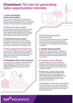 Cheatsheet: Ten tips for generating sales opportunities remotely