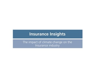 Video: Insurance Insights - The Impact of Climate Change on the Insurance Industry