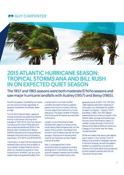 Review: 2015 Tropical Cyclone Season Activity Predictions