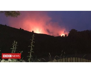 Mountain fire was 'started deliberately'- BBC News