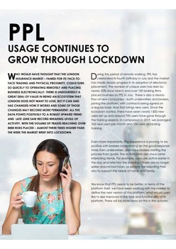 PPL Usage Continues To Grow Through Lockdown (pp. 14-15)