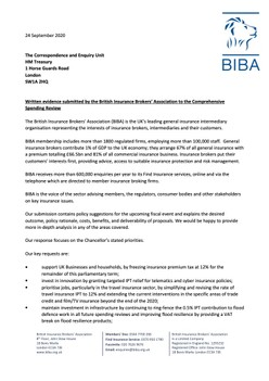 BIBA's response To Government's Spending Review