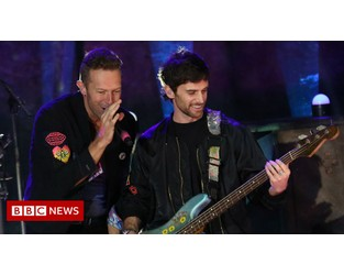 Coldplay: Band ready for backlash over eco-friendly world tour - BBC