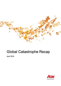 Global Catastrophe Recap - April 2019