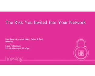 Webinar: The risk you invited into your network