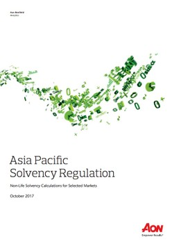 Asia Pacific Solvency Regulation Report