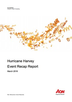 Hurricane Harvey Event Recap Report - March 2018