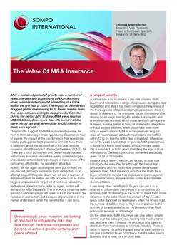 The Value Of M&A Insurance