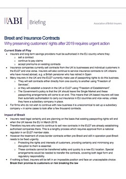 Brexit and Insurance Contracts