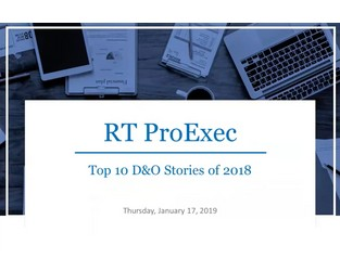 The Top 10 D&O Stories of 2018 - Kevin LaCroix