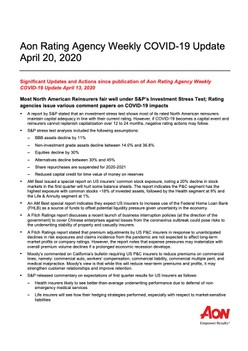 Aon Rating Agency Weekly COVID-19 Update April 20, 2020