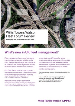 Willis Towers Watson Fleet Forum Review: Managing risk for a more efficient fleet