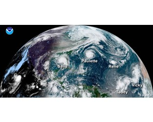 The 2020 hurricane season - a story of storm frequency & rapid intensification