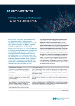 Plotting A Path In A Changing Market - To Bend Or Blend