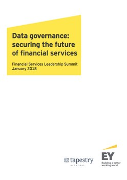 Data governance: securing the future of financial services