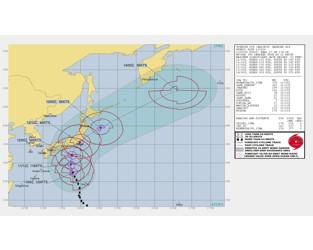 Typhoon Hagibis forecast to impact Tokyo region as Cat 1 or 2 storm