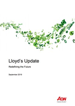 Lloyd's Update - Redefining the Future