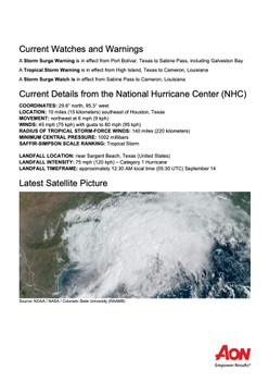 Impact Forecasting Cat Alert: Tropical Storm Nicholas