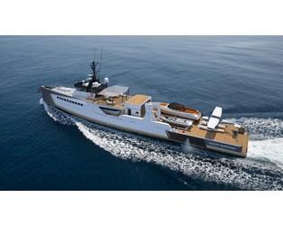 Damen launches 55m 'Blue Ocean' - SuperyachtNews