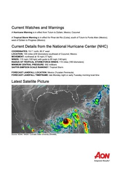 Current Watches and Warnings - Tropical Storm Zeta