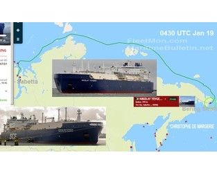 LNG tanker damaged while transiting Northern Sea Route - FleetMon