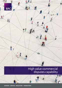 High value commercial disputes capability