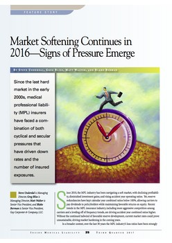 Market Softening Continues in 2016—Signs of Pressure Emerge