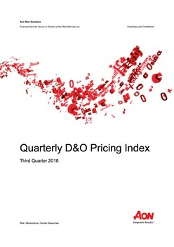Quarterly D&O Pricing Index Report: Third Quarter 2018