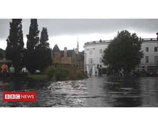 Barnstaple flood prevention scheme 'two years away' - BBC