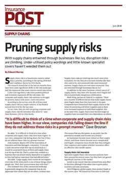 Pruning Supply Risks - Insurance Post