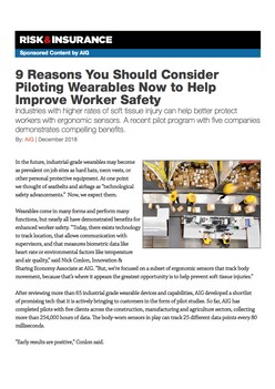 9 Reasons You Should Consider Piloting Wearables Now to Help Improve Worker Safety - Risk & Insurance