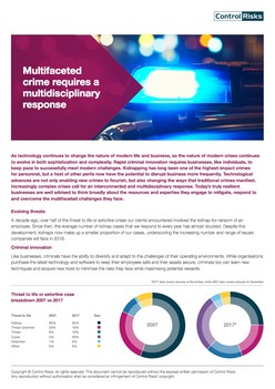 Multifaceted crime requires a multidisciplinary response - Control Risks
