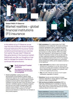 Market Realities – Global Financial Institutions (FI) Insurance