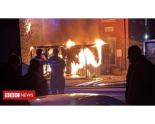 Northampton substations fire leaves homes without power - BBC