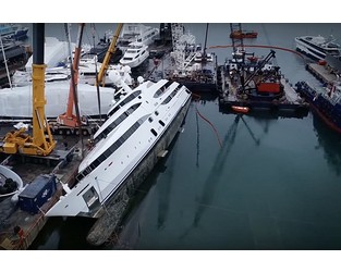 Watch: Capsized Nourah of Riyad refloated in Athens - Superyacht Times