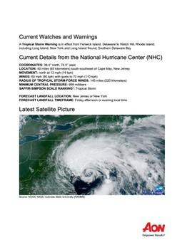 Impact Forecasting Cat Alert: Tropical Storm Fay