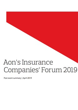 Aon's Insurance Companies' Forum 2019