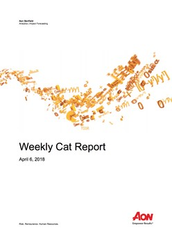 Weekly Cat Report - April 6, 2018