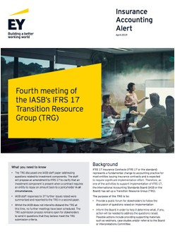 Fourth meeting of the IASB's IFRS 17 Transition Resource Group (TRG)