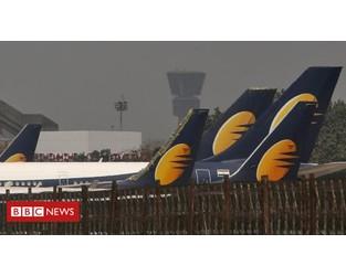 Jet Airways suspends all flights - BBC News