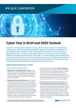 Cyber Year in Brief and 2020 Outlook