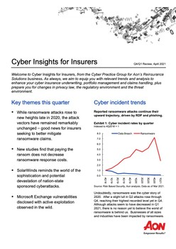 Cyber Insights for Insurers - Q4/Q1 Review